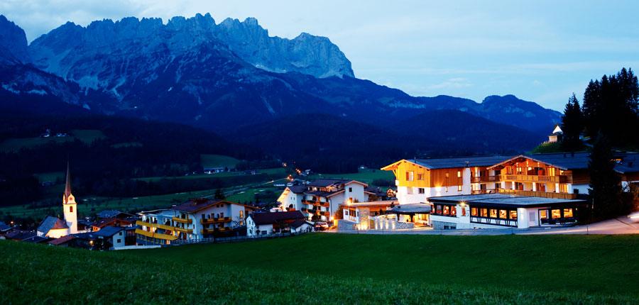 Hotel Der Bär, Ellmau, Austria - exterior at dusk.jpg